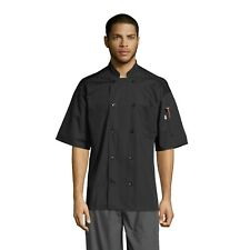 Delray Chef Coat 10 Button Mesh Back Short Sleeve, Xs-3Xl, 0421 New Colors
