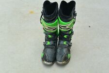 AXO Riding Boots Green And Black Size 12 Racing Boots MX SX ATV #8505