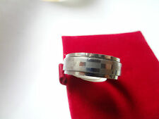 Edelstahl-Ring, Drehring, Mitte drehbar, Spinning, Rechtecke (2) Größe 66, neu