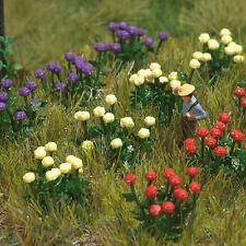N scale Garden Scenery - Dahlia plants, 120 flowers - Busch 8109 - free post F1