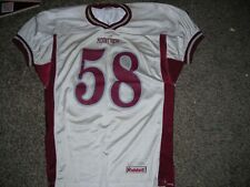 """Vintage """"Riddell 25+ y/o, football jersey, White/Maroon, #58, adult Large, gd"""