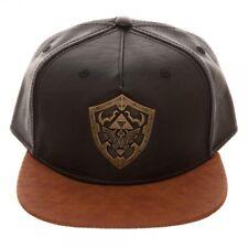 Zelda Metal Shield Faux Brown Snapback Adjustable Cap/Hat