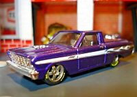 1965 FORD RANCHERO CUSTOM EDITION 1/64 CUSTOM WHEELS AND TIRES HW COOL!!