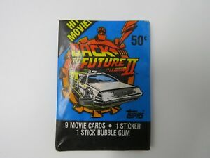 BACK TO THE FUTURE PART II 1989 TOPPS MOVIE CARDS 9 MOVIE CARDS 1 STICKER