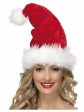 Deluxe Santa Hat Christmas Fancy Dress Party Accessory