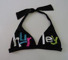 SWIMSUIT HURLEY Black and White Bikini Top Womens Juniors Small S