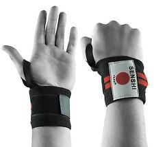 Senshi Japan Levantamiento Pesas Correa Para La Muñeca Cruzado Soporte Con