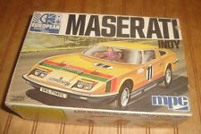 Vintage mpc 1/32 european racing series INDY MASERATI Model Kit Complete in Box