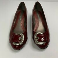Hush Puppies Palace Red Flat Leather Slip-on Size 6