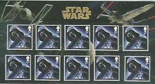 Star Wars Souvenir Pack - 10 x 'Darth Vadar' 1st class stamps - FV £7.60
