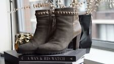 High Heel Leather Ankle Boots Size 39