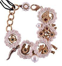 DOLCE & GABBANA SICILY Armband aus Messing Glass Beige Brass Bracelet 03971