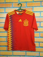 Spain Jersey 2018 2019 Home Kids Boys 13-14 y Shirt Football Adidas BR2713