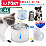 2.4L LED Automatic Electric Pet Water Fountain Dog Cat Drinking Waterfall Bowl