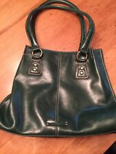 Nine & CO Green Handbag/Purse Faux Leather, Satchel Medium size