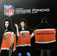 Cincinnati Bengals Sweatshirt Hooded Poncho