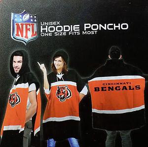 Cincinnati Bengals Sweatshirt Hooded Poncho