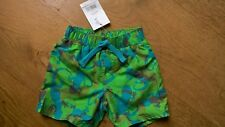 BNWT Boots Miniclub Green Blue Geko Elasticated Net Lined Swim Shorts 9-12m 74cm