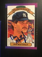Don Mattingly signed 1989 Donruss Diamond King  Yankees Autographed Auto