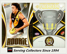2007 Select AFL Supreme Predictor Richmond +Draft Rookie PDR12 Shane Edwards