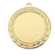 50 große Medaillen Ø 70mm mit 50mm Sportemblem, Medaillen-Band und Beschriftung