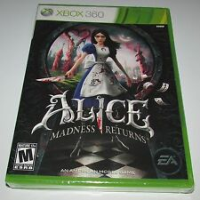 Alice Madness Returns for Xbox 360 Brand New! Factory Sealed!