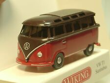Wiking VW t1 sambabus, rojo/marrón - 0317 04 - 1/87