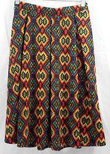 Womens LuLaRoe Madison Box Pleat Skirt LARGE Multi Colored NWT