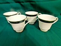 I2 - Royal Doulton England Harlow Bone China Footed Coffee / Tea Cups Lot of 4
