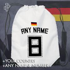 FOOTBALL WORLD CUP 18 GERMANY PERSONALISED TEAM SHIRT STYLE DRAWSTRING BAG FLAG