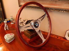 "BMW E9 2800 CS Steering Wheel  Wood 15.3"" NARDI  NEW NOS Hub/Boss Horn Button"