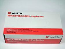 Wurth Industrial Black Nitrile Gloves Powder Free (Medium) (1 box / 100 pcs)