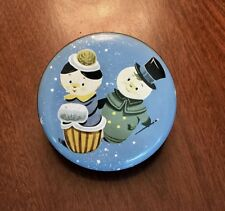More details for ' decorative round tin : christmas / snow ~ people to the lid ' : good condition