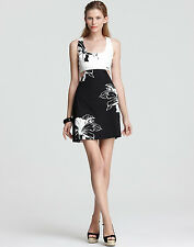 NEW OONAGH BY NANETTE LEPORE BLACK & WHITE $248 CUTOUT MATTHEW DRESS SZ 12