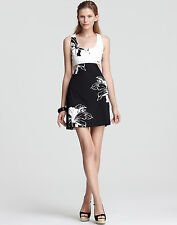 NEW OONAGH BY NANETTE LEPORE BLACK & WHITE $248 CUTOUT MATTHEW DRESS SZ 12