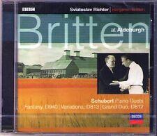 Sviatoslav Richter Britten in Aldeburgh Schubert GRAND Duo FANTASY VARIATIONS CD
