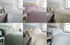 Double Bed Size White Waffle Print 300 Thread Count Luxury Egyptian Cotton and
