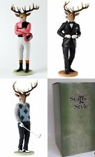 Stags with Style Figurines Frank Edward or Jack Border Fine Arts