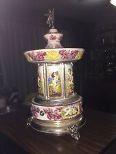 "Rare Vintage Swiss Reuge Cigarette Holder Carousel Music Box ""Arivaderchi Roma�"