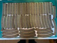 Märklin H0, 50 x M-Gleis, Konvolut gerade und gebogene Gleise, Schnäppchen !!!
