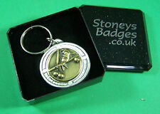 SNOOKER POOL BILLIARDS English Pewter Keyring  FREE UK POST Sport Key Ring