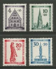 STAMPS-FRENCH ZONE. 1949. Freiburg Fund Set. SG: FB38/41. Mint Never Hinged.