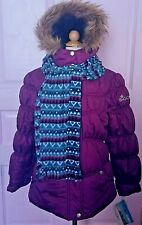 Big Chill Winter Jacket w FREE SCARF Purple Girls SIZE 10/12