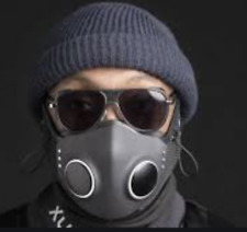 XUPERMASK Black Size: S/M ANC Audio and HEPA Filters by HONEYWELL