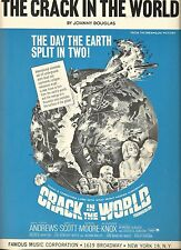 THE CRACK IN THE WORLD BY JOHNNY DOUGLAS  1965 SHEET MUSIC/MOTION PICTURE THEME