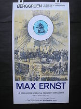 poster Max Ernst galerie  Berggruen 1972 original litho Pierre Chave