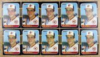 Cal Ripken Jr 1987 Donruss #89 Baltimore Orioles 10ct Card Lot.