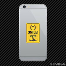Smile You're On Camera Cell Phone Sticker Mobile shop window cctv #2