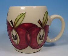 MOORCROFT Pottery Red APPLES Design Barrel Shaped Mug RRP £95