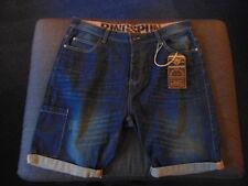"Ringspun 100%Cotton Denim Shorts XL W40"" L12"" Dark Denim BNWT"